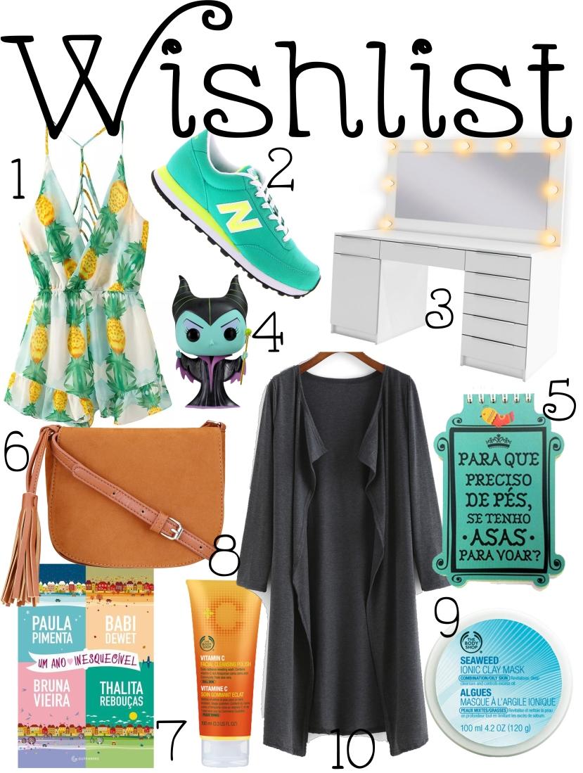 wishlist de agosto