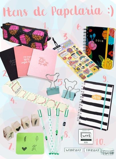 Comprinhas: Itens de papelaria fofos para 2018!